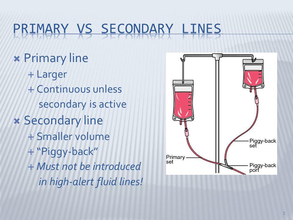Primary vs secondary lines