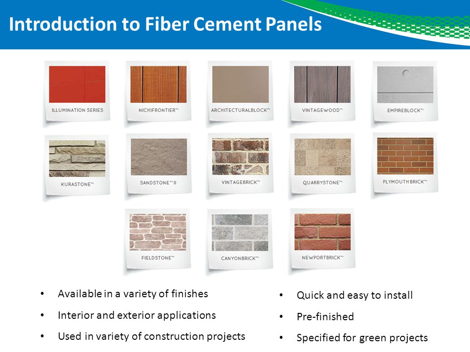 Introduction to Fiber Cement Panels