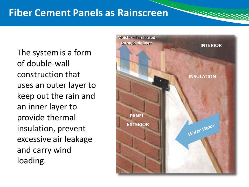 Fiber Cement Panels as Rainscreen