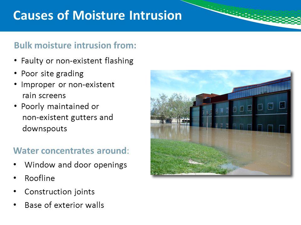 Causes of Moisture Intrusion