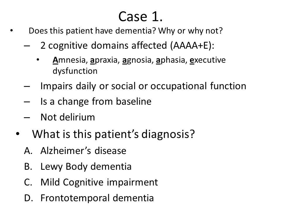 Case 1. What is this patient's diagnosis