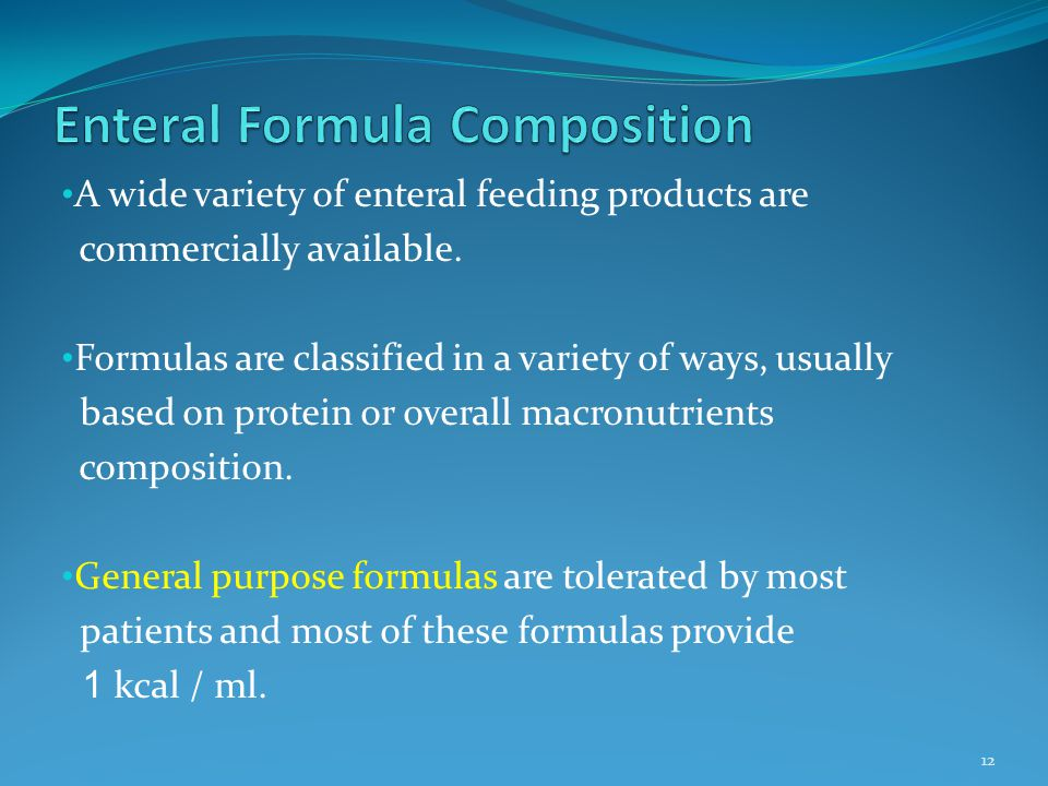 Enteral Formula Composition