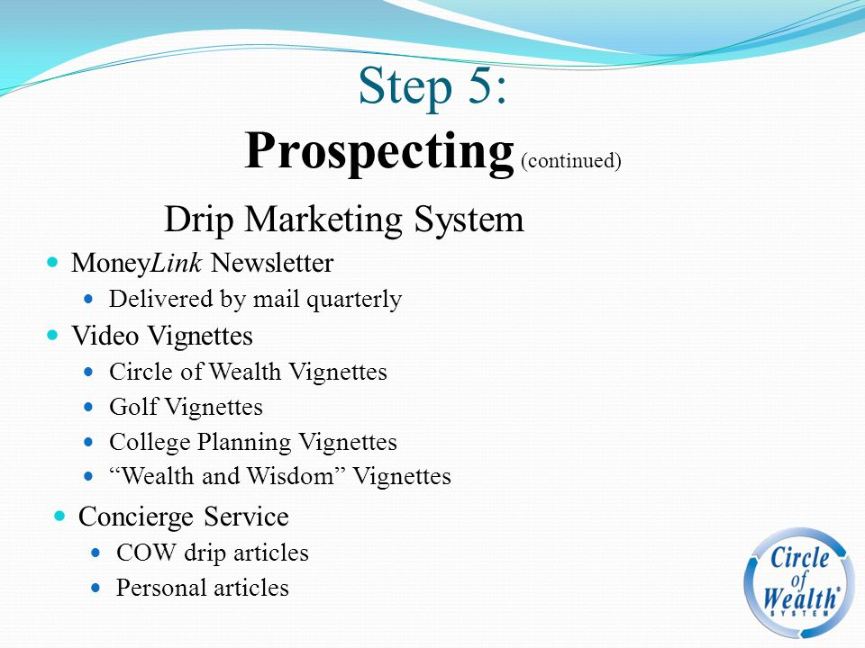 Step 5: Prospecting (continued)