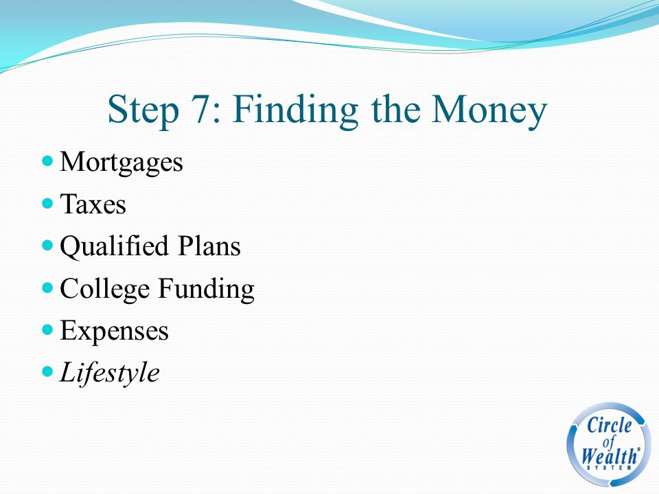 Step 7: Finding the Money