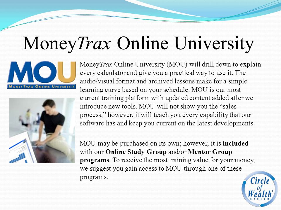 MoneyTrax Online University