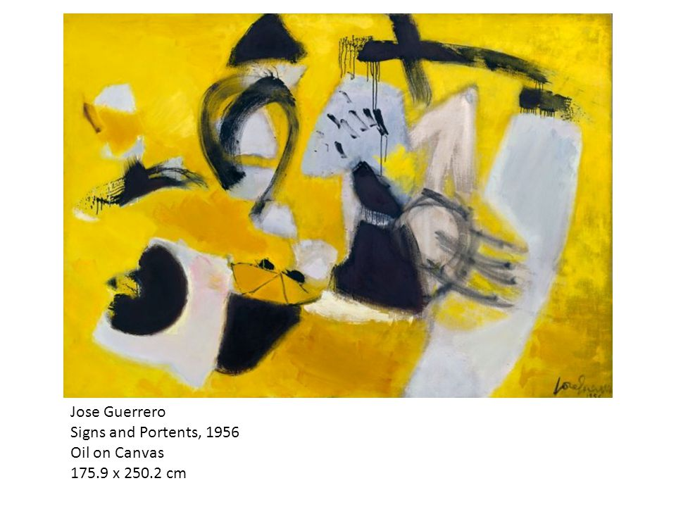 Jose Guerrero Signs and Portents, 1956 Oil on Canvas 175.9 x 250.2 cm