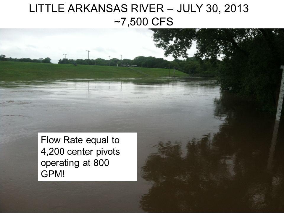 LITTLE ARKANSAS RIVER – JULY 30, 2013 ~7,500 CFS