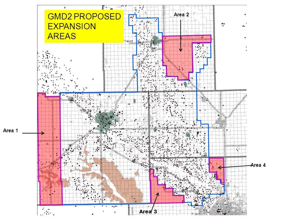 GMD2 PROPOSED EXPANSION AREAS Area 2 Area 1 Area 4 Area 3