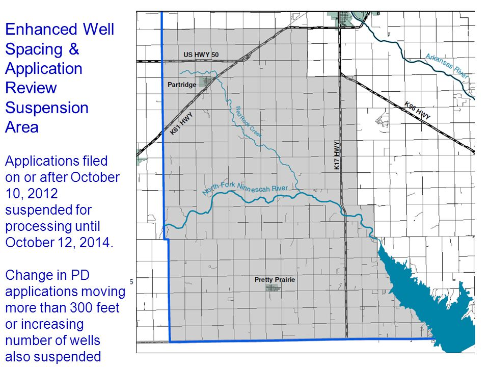 Enhanced Well Spacing & Application Review Suspension Area