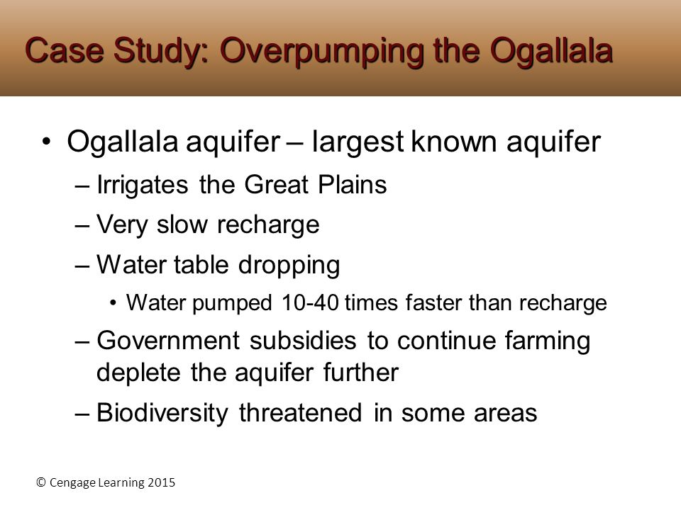 Case Study: Overpumping the Ogallala