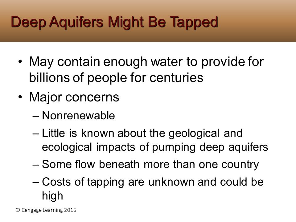 Deep Aquifers Might Be Tapped