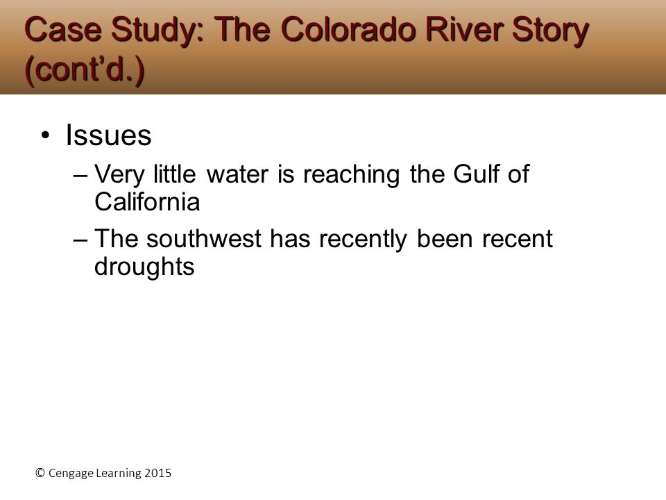 Case Study: The Colorado River Story (cont'd.)