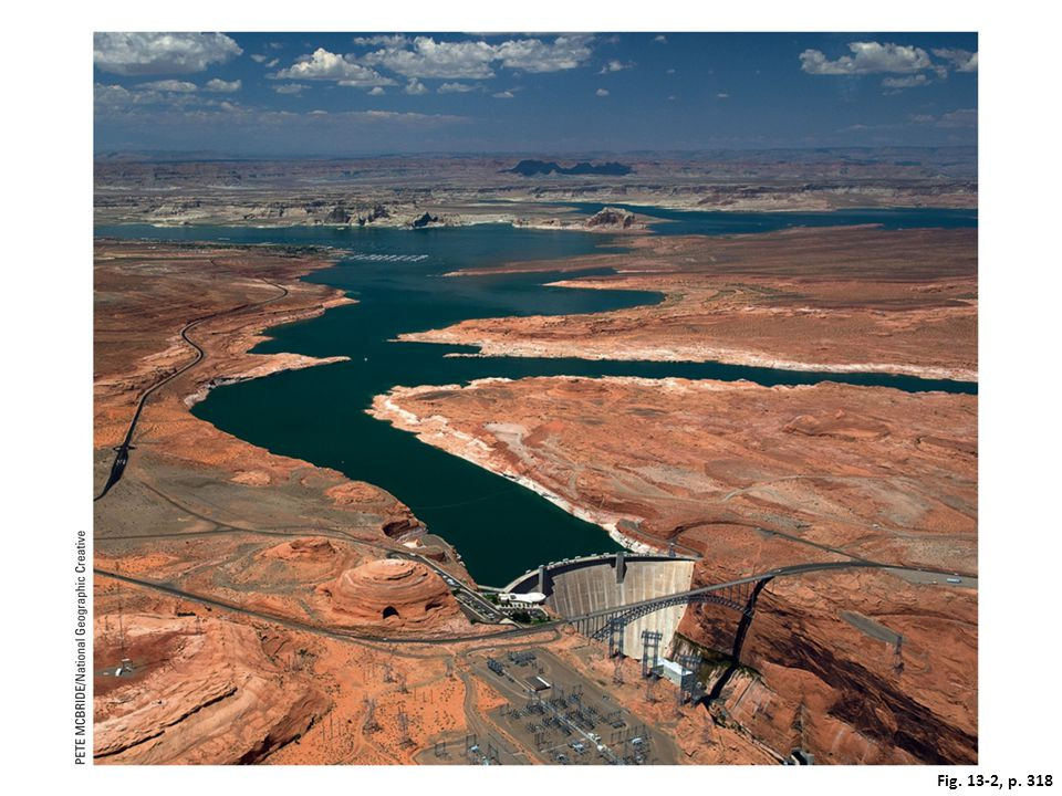 Figure 13-2: The Glen Canyon Dam was built to create the Lake Powell reservoir on the Colorado River.
