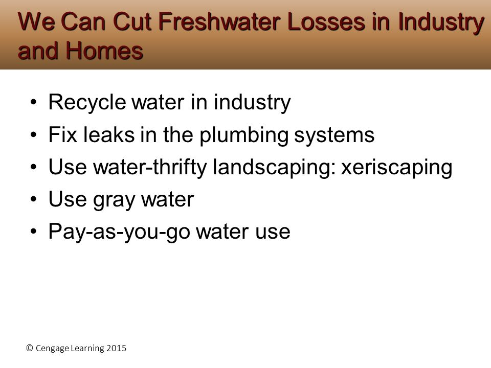 We Can Cut Freshwater Losses in Industry and Homes