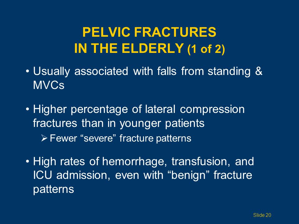 PELVIC Fractures IN THE ELDERLY (1 of 2)