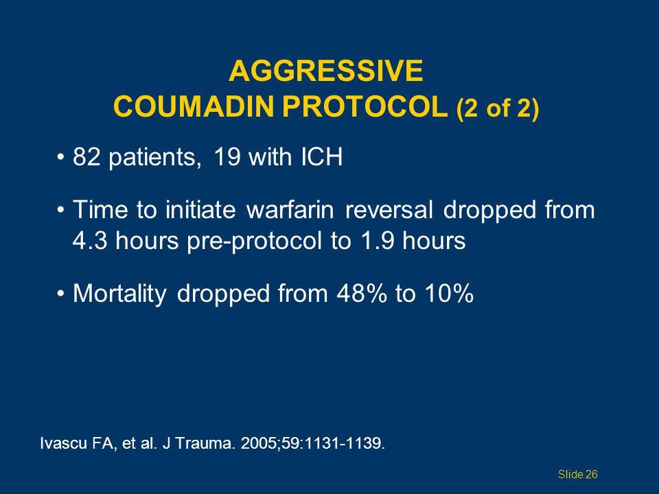 Aggressive Coumadin Protocol (2 of 2)
