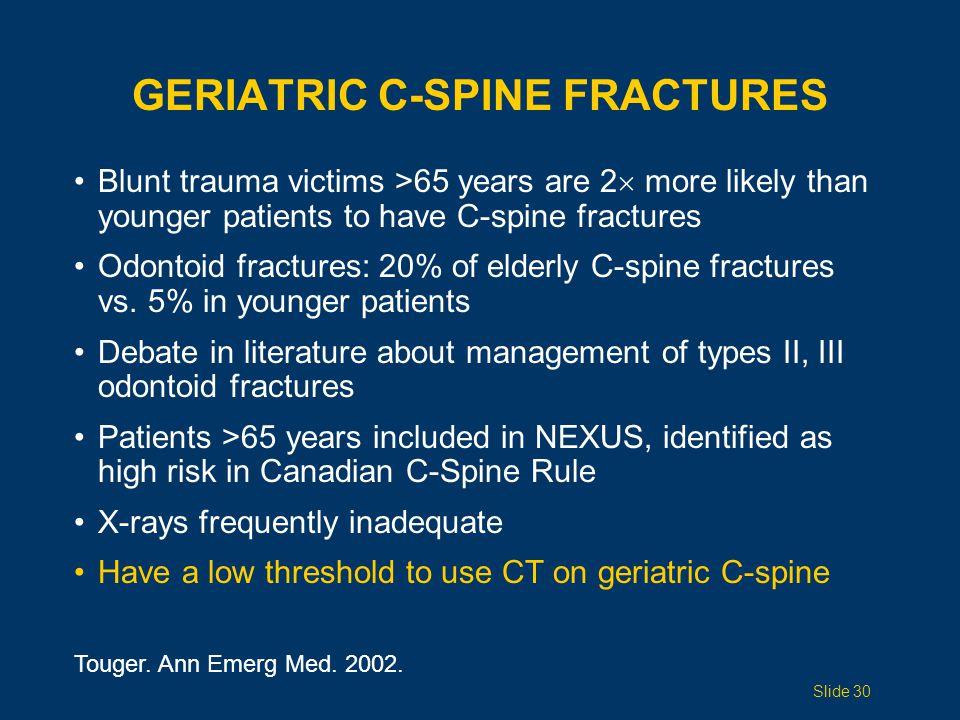 Geriatric C-Spine Fractures