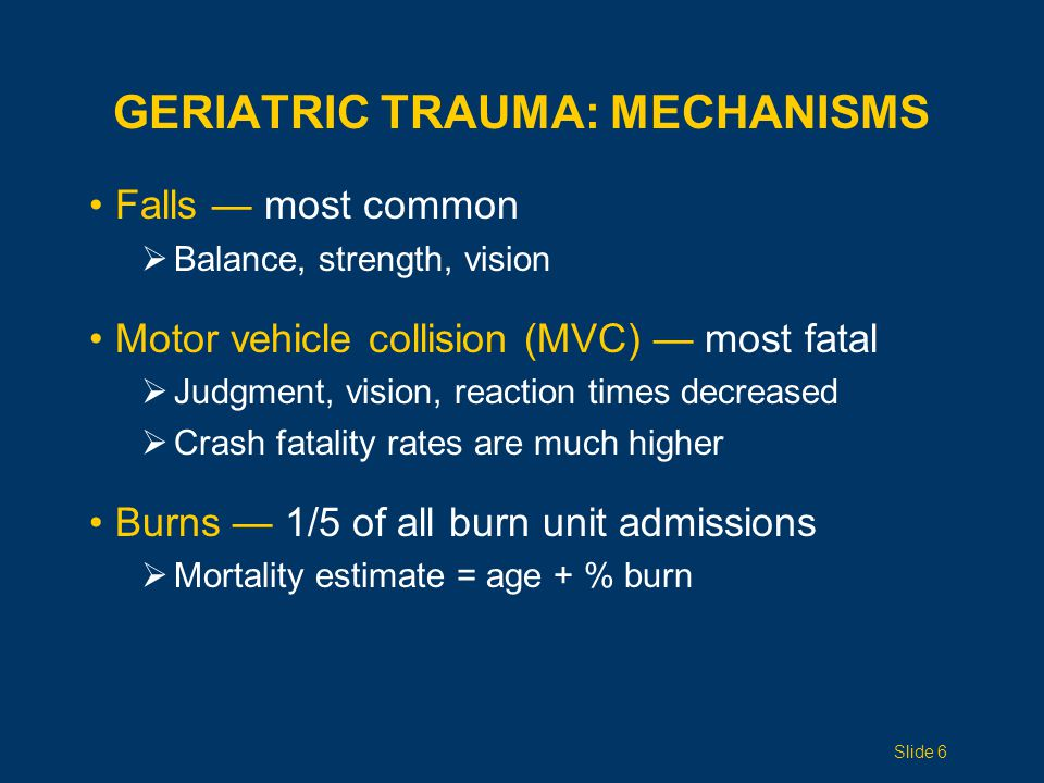 Geriatric Trauma: Mechanisms