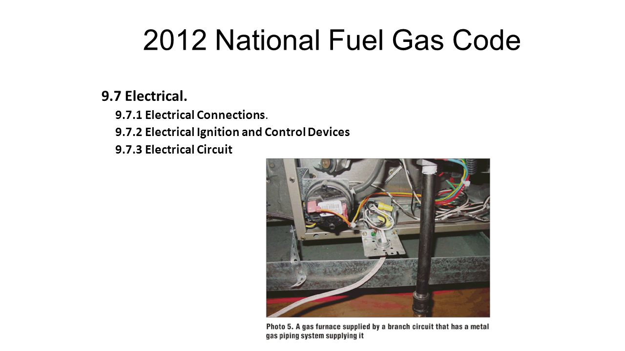2012 National Fuel Gas Code 9.7 Electrical.