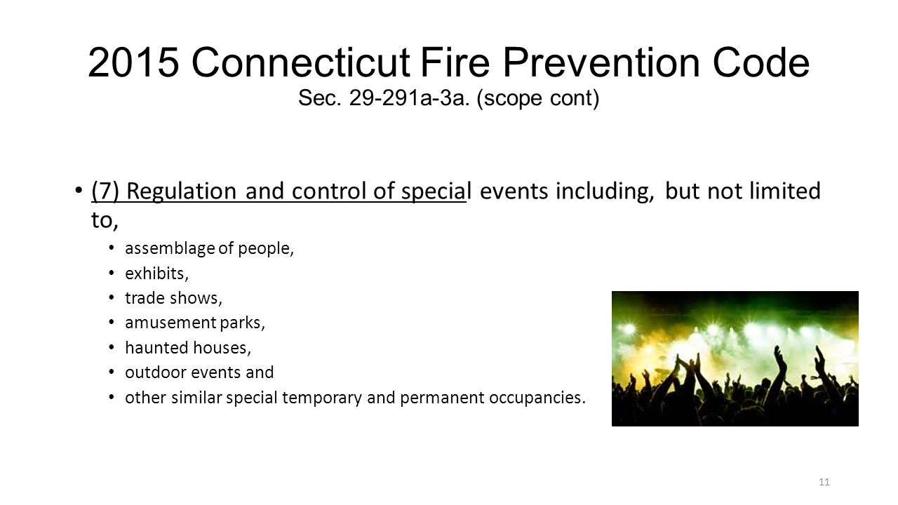 2015 Connecticut Fire Prevention Code Sec. 29-291a-3a. (scope cont)