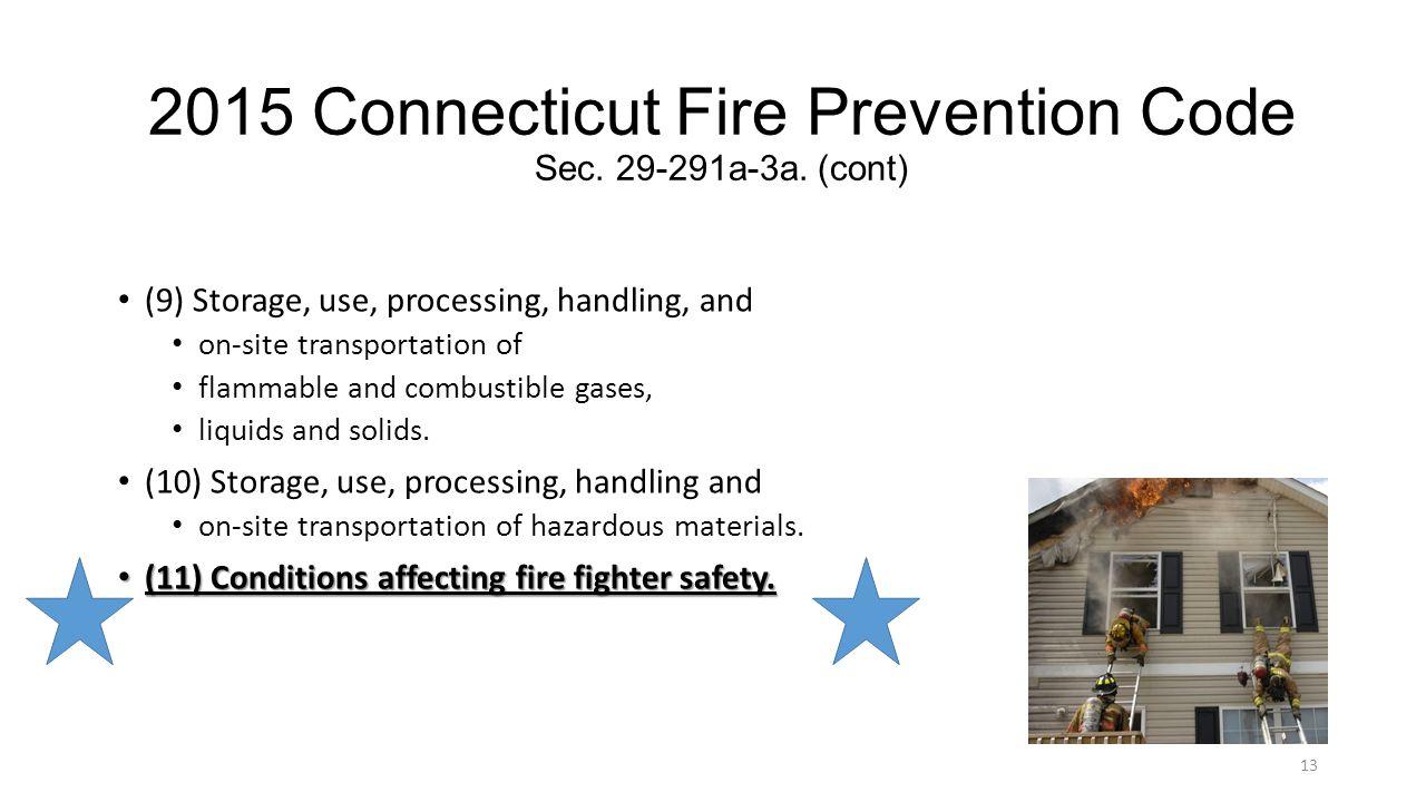 2015 Connecticut Fire Prevention Code Sec. 29-291a-3a. (cont)