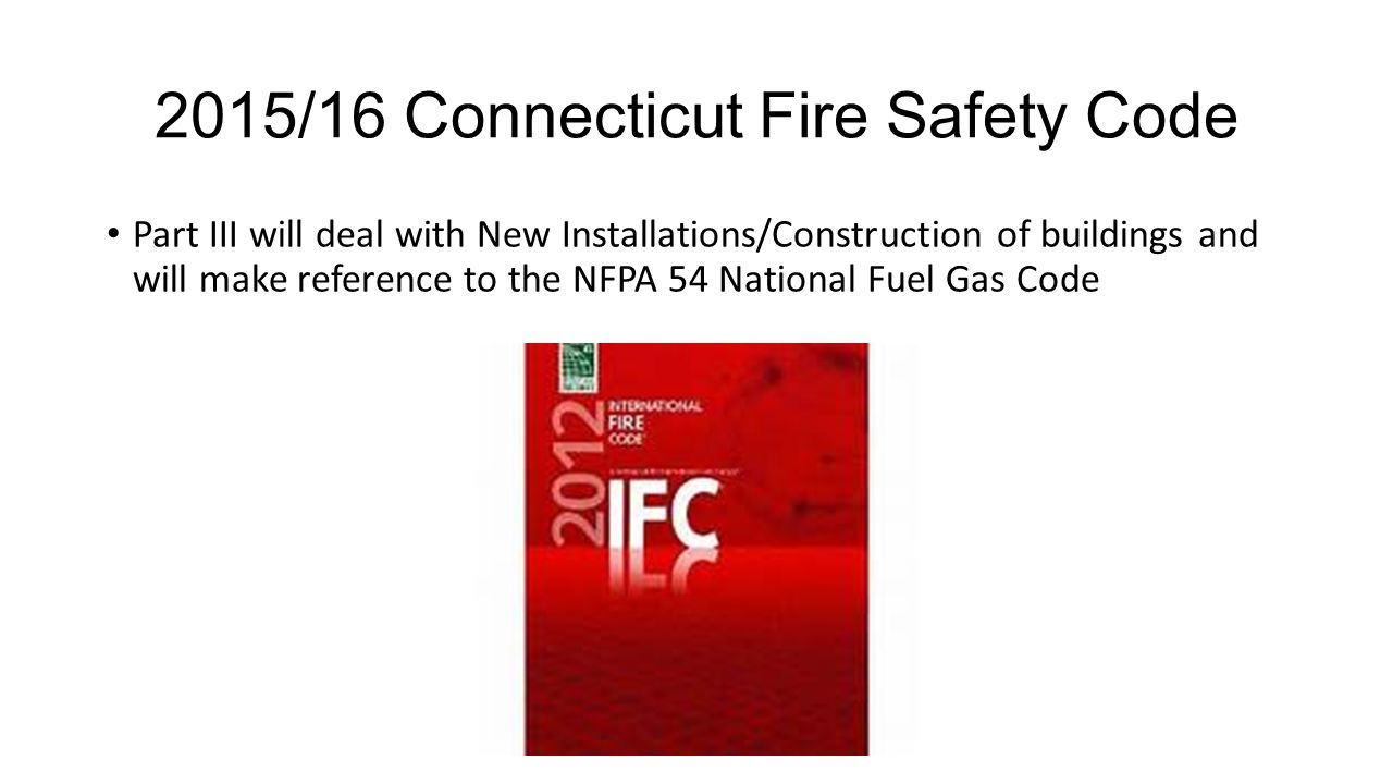 2015/16 Connecticut Fire Safety Code