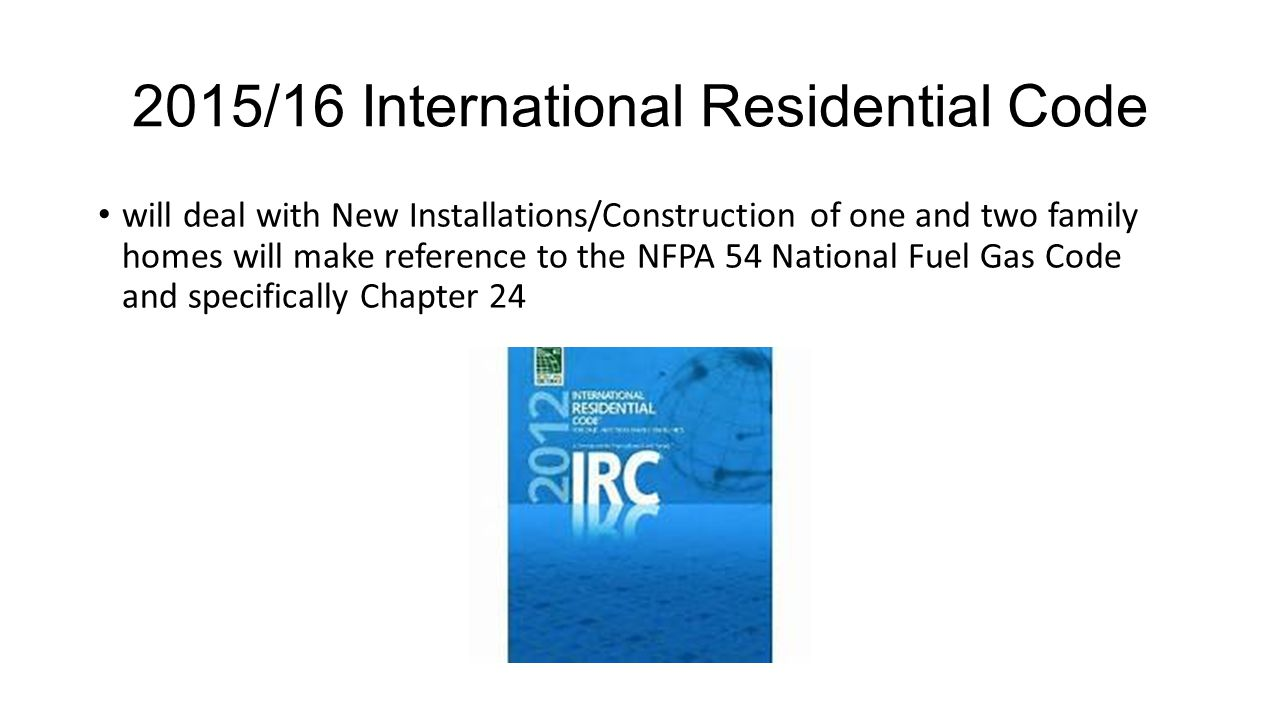 2015/16 International Residential Code