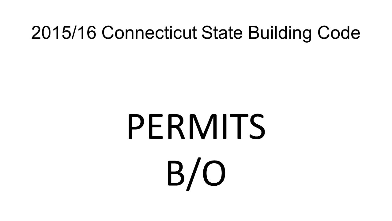 2015/16 Connecticut State Building Code