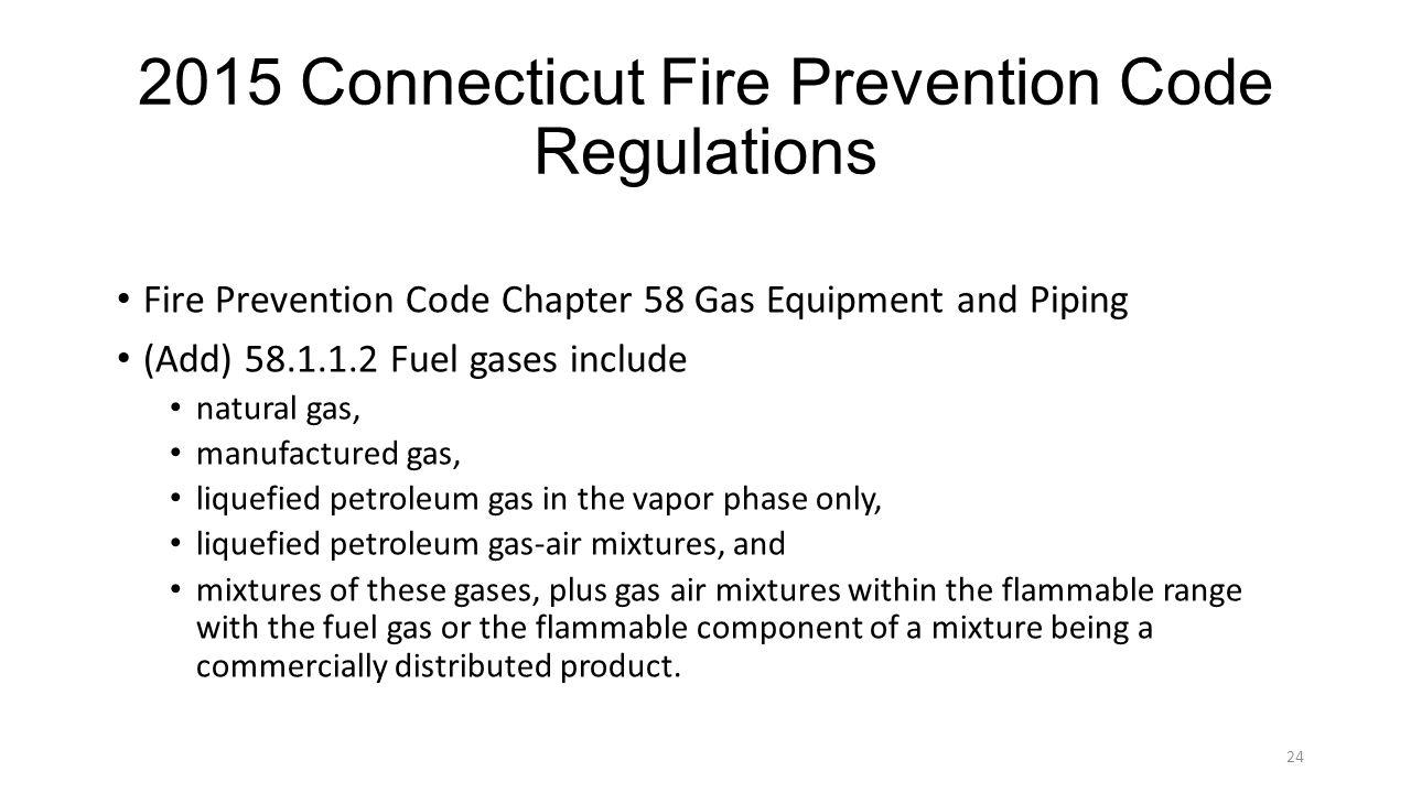 2015 Connecticut Fire Prevention Code Regulations