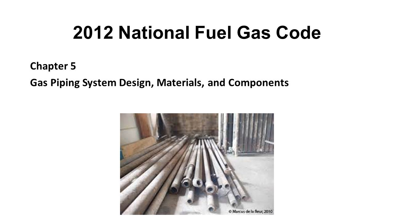 2012 National Fuel Gas Code Chapter 5