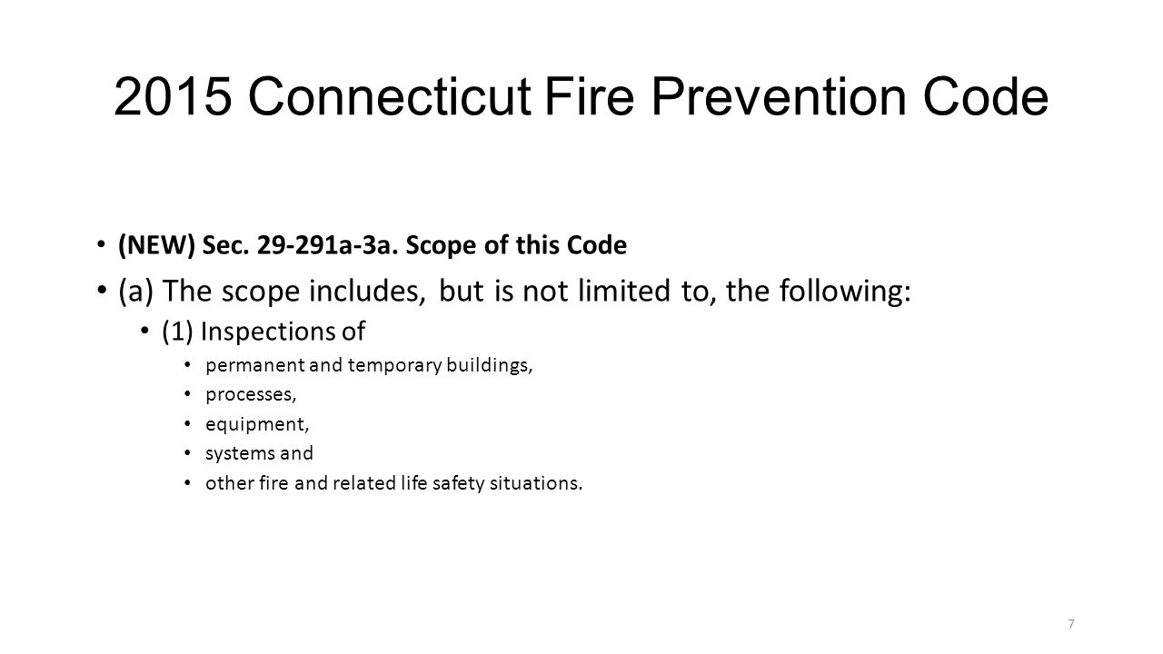 2015 Connecticut Fire Prevention Code