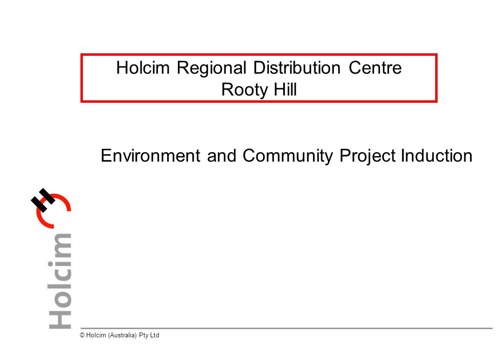 Holcim Regional Distribution Centre Rooty Hill