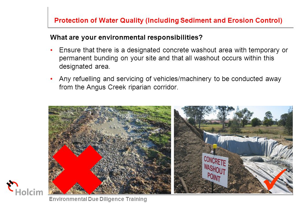  Protection of Water Quality (Including Sediment and Erosion Control)