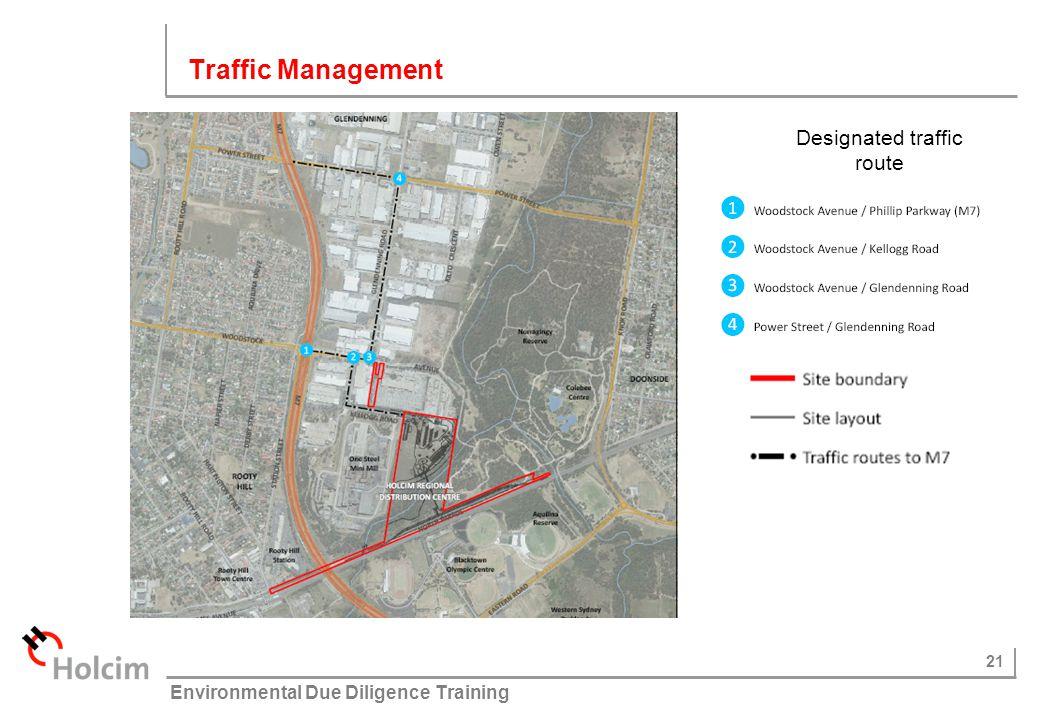 Designated traffic route