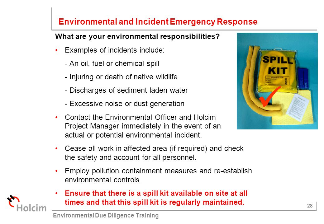  Environmental and Incident Emergency Response