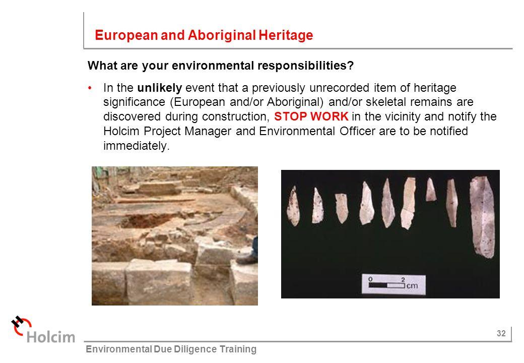 European and Aboriginal Heritage