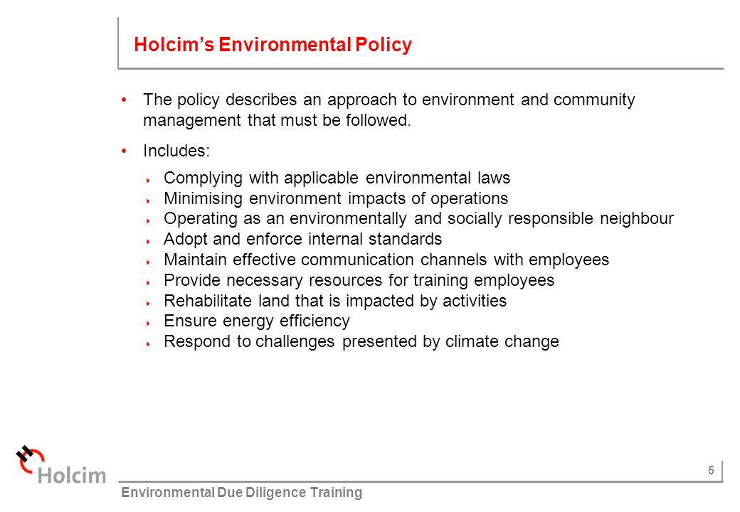 Holcim's Environmental Policy