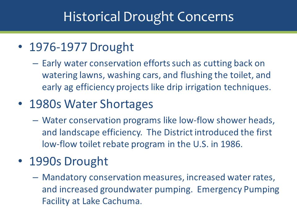 Historical Drought Concerns