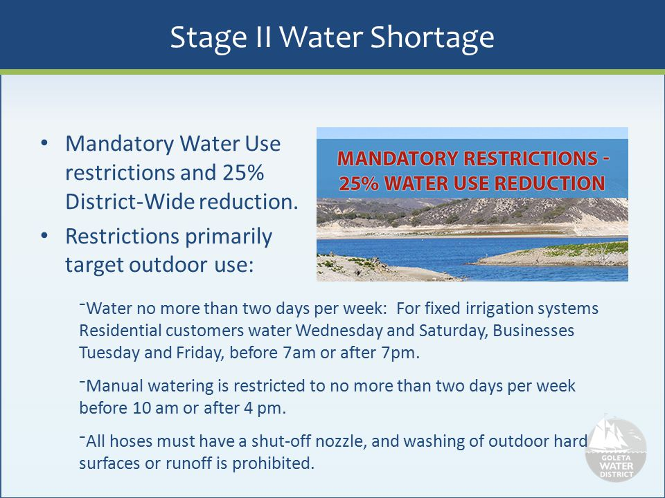 Stage II Water Shortage