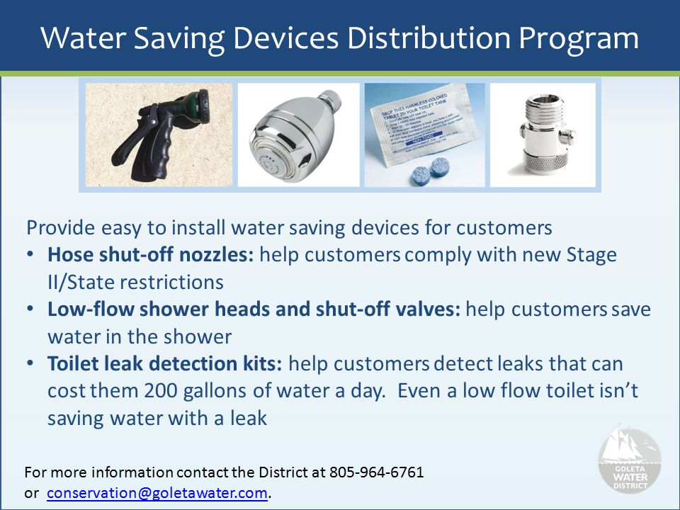 Water Saving Devices Distribution Program