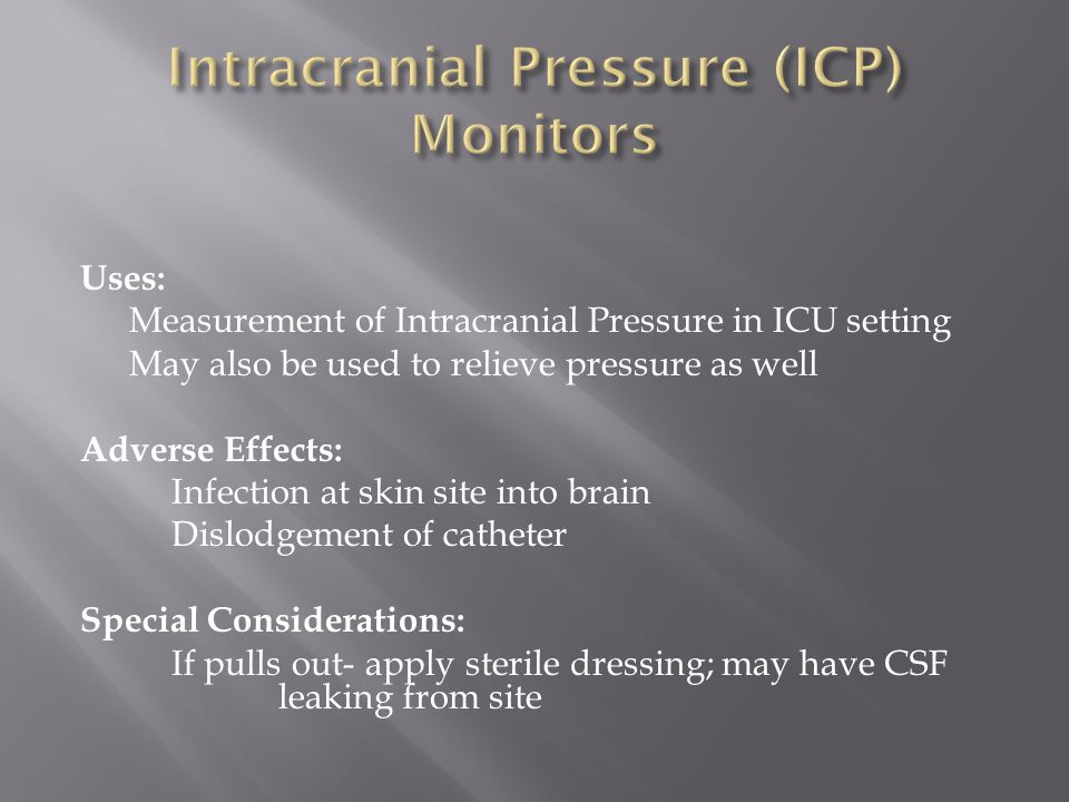 Intracranial Pressure (ICP) Monitors