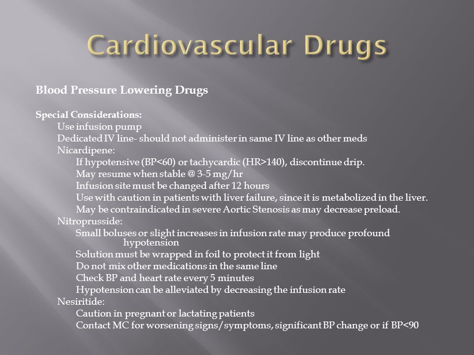 Cardiovascular Drugs Blood Pressure Lowering Drugs