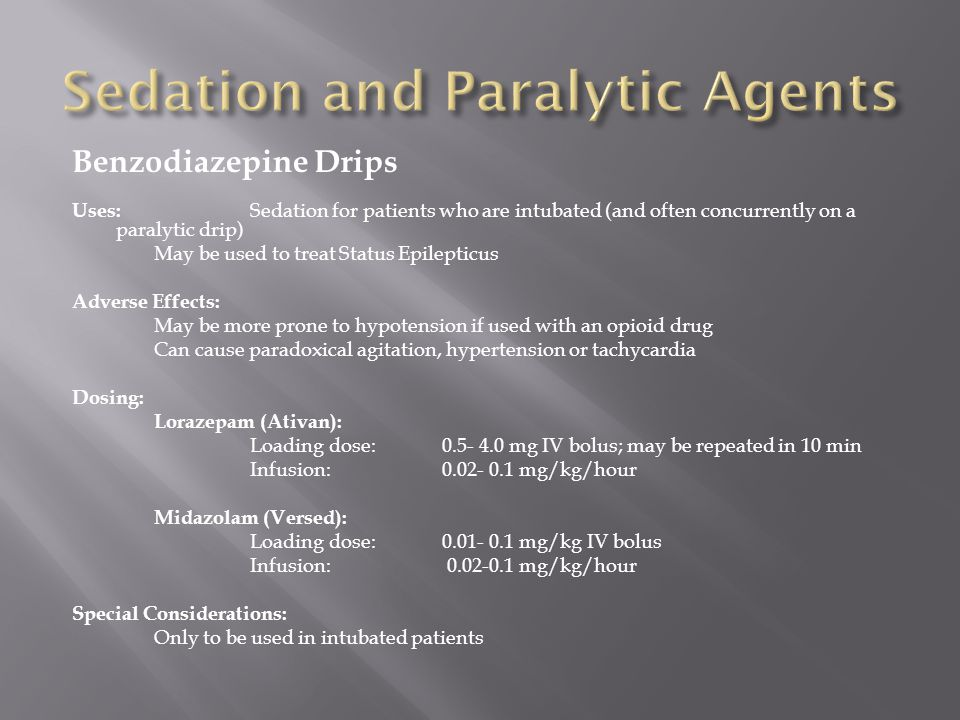 Sedation and Paralytic Agents