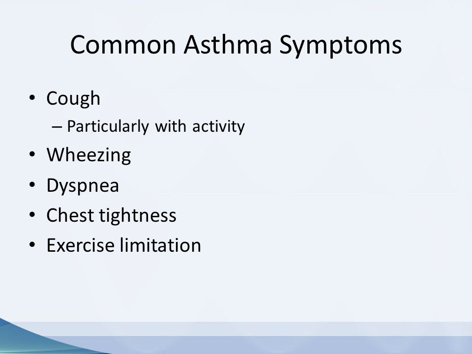 Common Asthma Symptoms