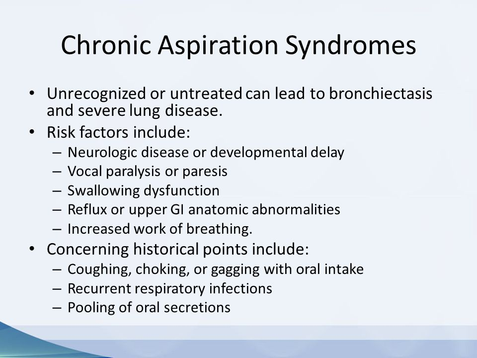 Chronic Aspiration Syndromes