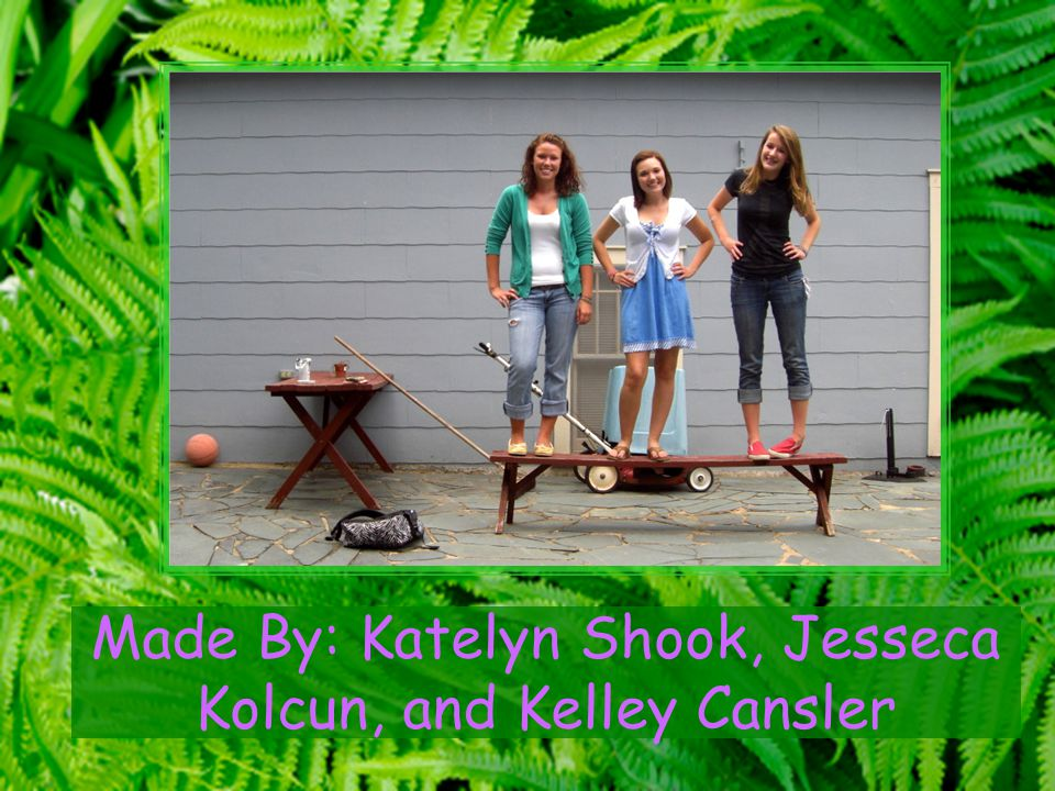 Made By: Katelyn Shook, Jesseca Kolcun, and Kelley Cansler