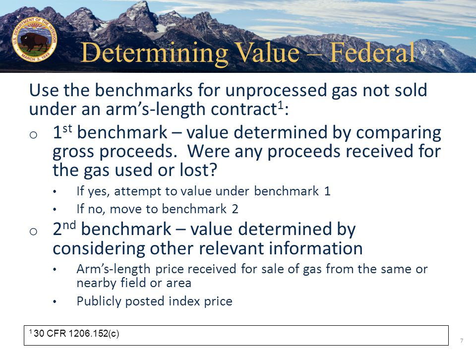 Determining Value – Federal