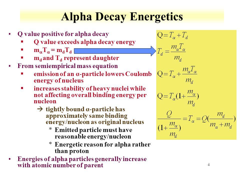 Alpha Decay Energetics