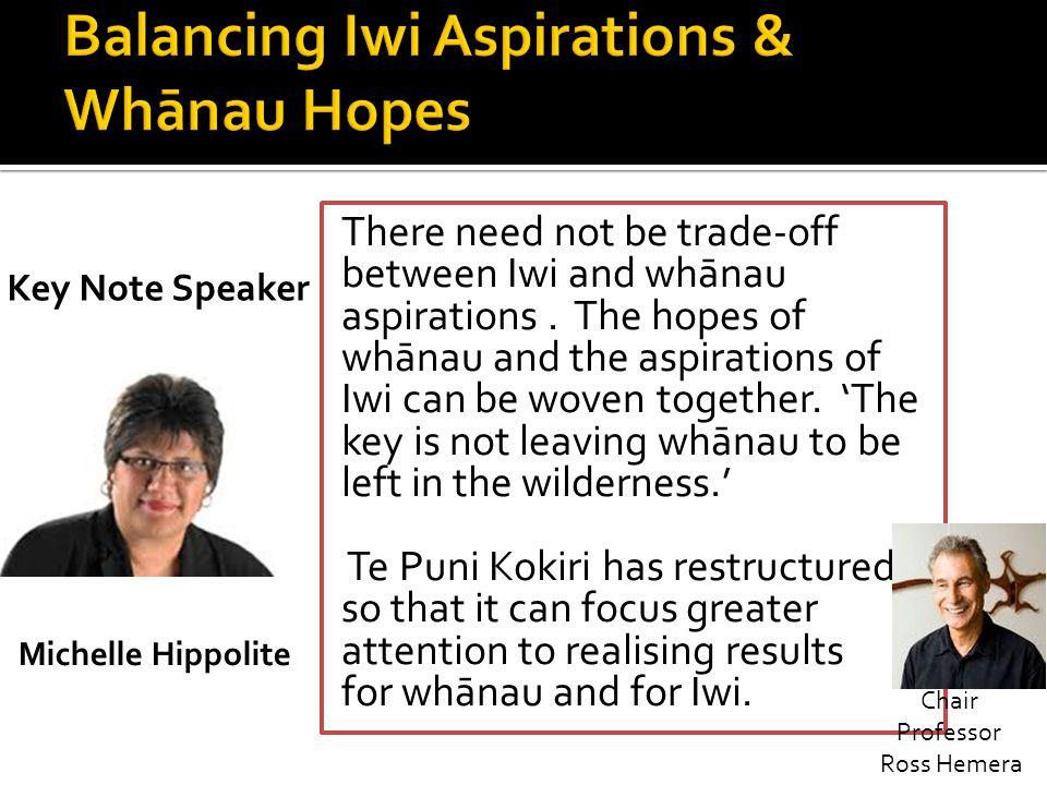 Balancing Iwi Aspirations & Whānau Hopes