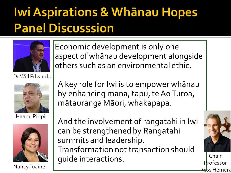 Iwi Aspirations & Whānau Hopes Panel Discusssion
